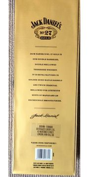 Leere Jack Daniels No.27 Flasche Gold, kein Paypal, Versand ja,, gebraucht gebraucht kaufen  Dortmund Berghofen