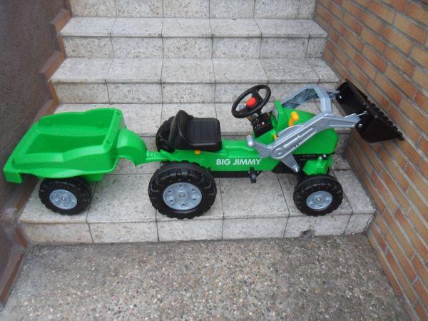 Big jim jimmy frontlader anhänger traktor tretauto trettraktor in