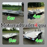Motorradtransporter Anhänger für 3 4