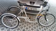 E-Bike mit drei Rädern