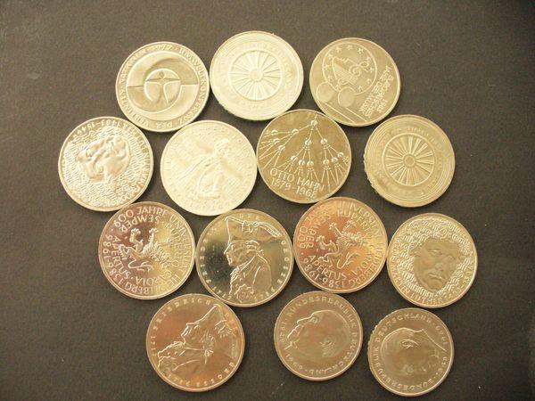 Gedenk U Sondermünzen 5 Dm Münzen Teils Silbermünzen In Leonberg