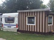 Dauercamping, feststehender Wohnwagen