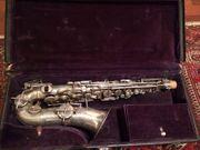 Buescher Saxophon versilbert
