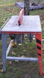 Bau und Holzkreissäge