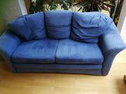 Schlafsofa blau Alcantara Style