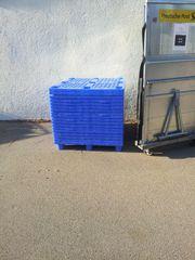 Kunststoff Paletten blau 1000 x