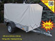750 kg Anhänger Alu-Aufbau 205
