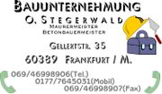 BAUUNTERNEHMUNG OLAF STEGERWALD IN FRANKFURT