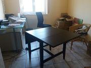 Tisch Holz schwarz