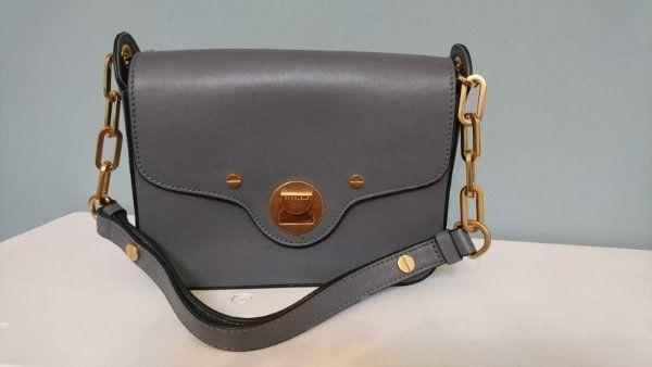 1ad1a88e4a973 Rubrik  Kleidung   Accessoires · COCCINELLE Clessidra Bag Handtasche grau  Kalbsleder neuwertig