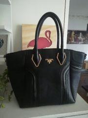 Prada Tasche schwarz Shopper linea