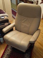 Beiger Stressless Sessel mit elektrischer