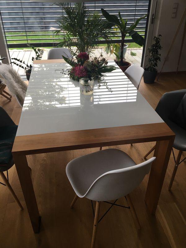 Esstisch von Hülsta aus Glas und Holz in Fürth - Speisezimmer ...