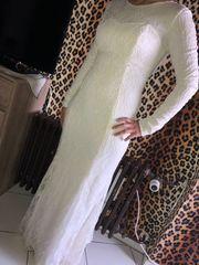 Weises Schönes Klitzer Kleid Standesamt