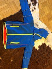 Softshelljacke blau mit Kapuze mit