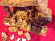 Weihnachts-Krippe mit Figuren