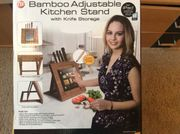 Bamboo Adjustable Kitchen Stand with