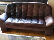 Echtleder Couch Set 2- und