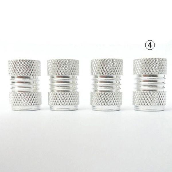 Alu Ventilkappen in Silber für