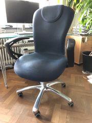 Bürostuhl Schreibtischstuhl dunkelblau