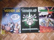 9 Werner-Kalender verschiedener Jahrgänge