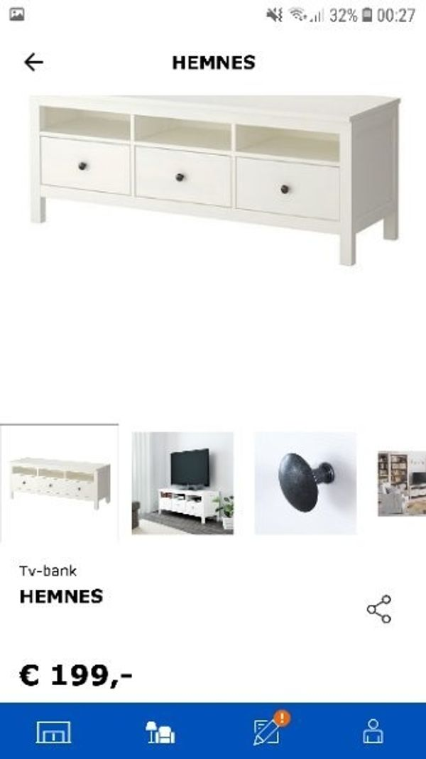 ikea hemnes tv bank board 1 83m lang in bartholom berg. Black Bedroom Furniture Sets. Home Design Ideas