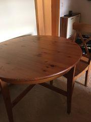 Echtholztisch 4 Stühle