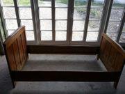 Antik Bett Eichenbett massiv Eiche