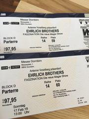 2 Tickets Ehrlich Brothers