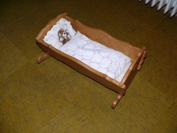 Puppenwiege, 40x21cm, Wiege, » Holzspielzeug