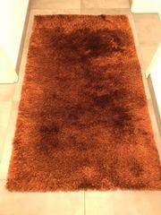 Teppiche hochflor rot-