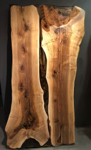 Handgefertigte Massivholz Nussbaum Esstisch mit