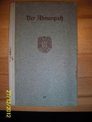Ahnenpaß Schubert + Weißenborn