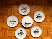 Für Angler Porzellan- Geschirr mit