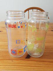 2 stk Nuk Glassflasche