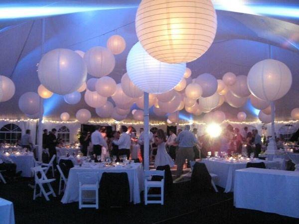 Grosse Weisse Lampion 75 90 Oder 120 Cm Partydekoration Hochzeit
