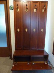 Hochwertige 5teilige Garderobe Mahagoni Spiegel