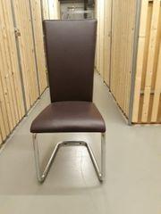 Esszimmer Stühle Kunstleder braun
