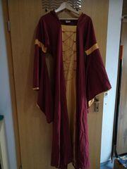 Mittelalterkleid mit Kapuze zweifarbig Gr