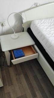 Hülsta weißes Holzbett,