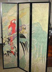 Paravent Raumteiler Sichtschutz Papagei