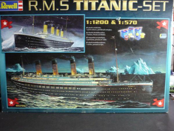 revell 05705 modellbau r m s titanic set 2 schiffe in mannheim rc modelle modellbau. Black Bedroom Furniture Sets. Home Design Ideas