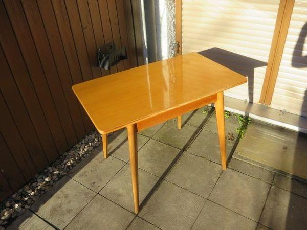 50 Er Jahre Lack Tisch Massiv Holz Lackiert In München