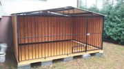 Hundezwinger Hundebox 2x3x1 75 Giebeldach