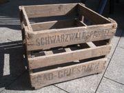 Alte Holz Sprudelwasserkiste