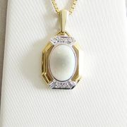 Anhänger Gold 585er weißer Opal