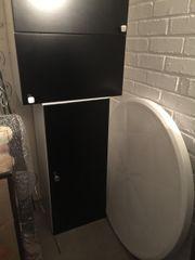 IKEA Hängeschränke Faktum Applad schwarz