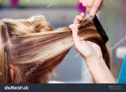 Damen-Friseurin nach