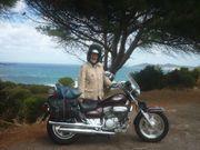 Biker in gerne Chopper Fahrer