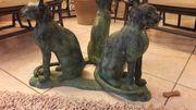 Couchtisch Bronzekatzen